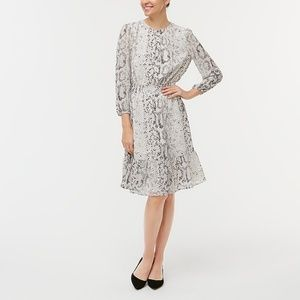 J.Crew Printed Smocked-waist Dress